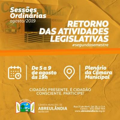 Sessões de Agosto-2019