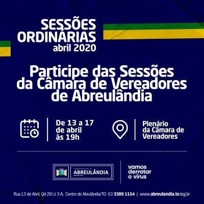 Sessões de Abril-2020